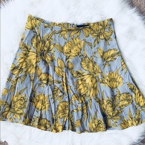 ❗️Banana Republic Floral Grey Yelow Skirt MSRP $98